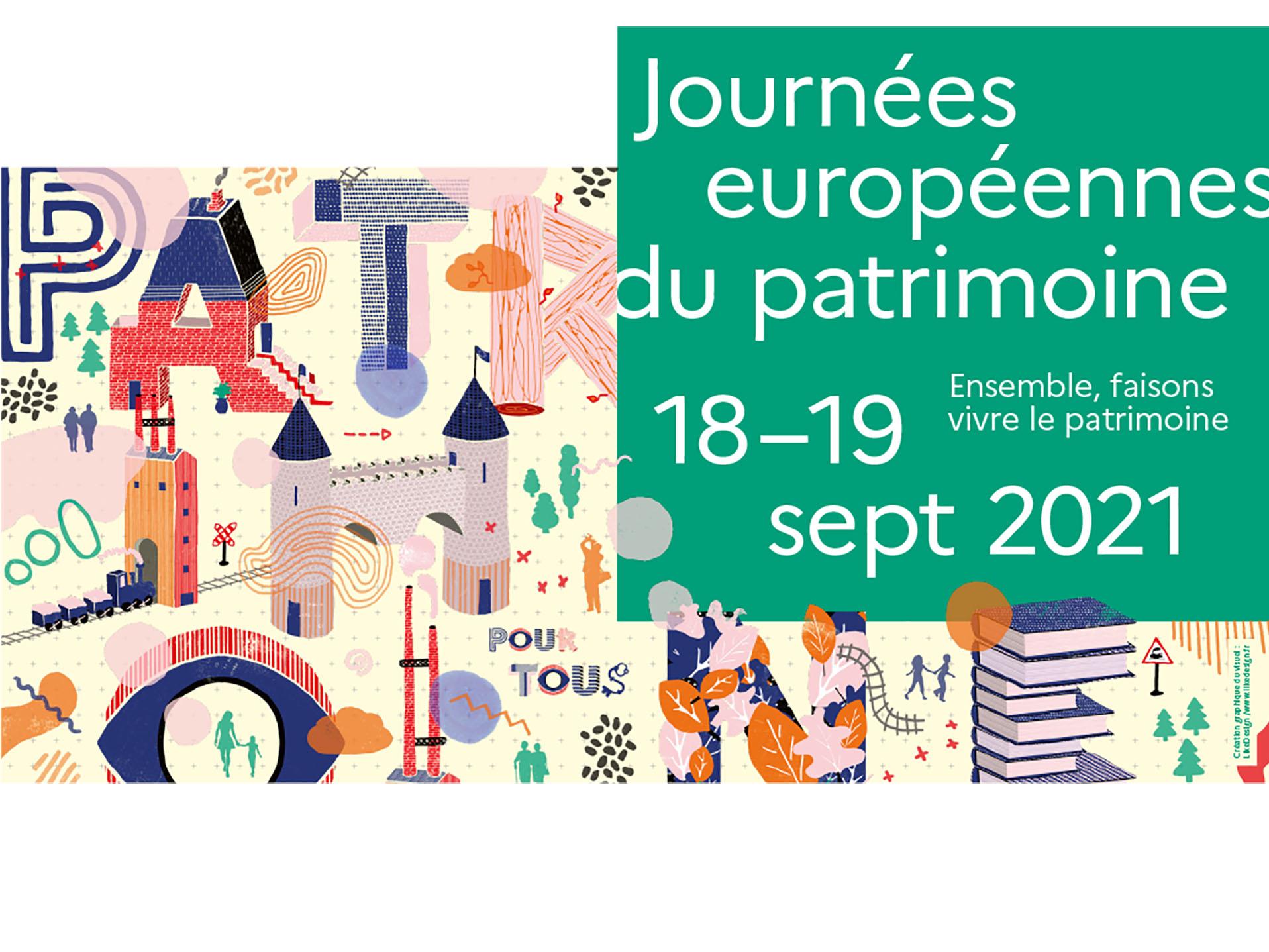 Journées européennes du patrimoine 19 septembre 2021